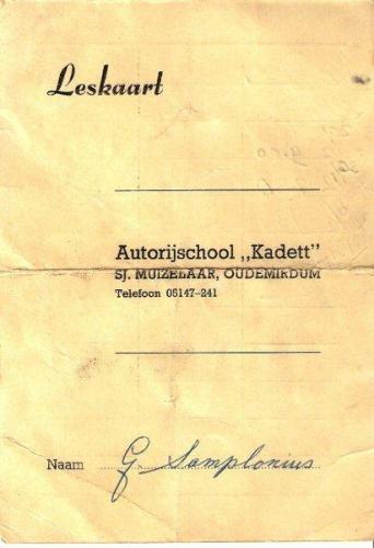 1 Auto Rijschool Sjerp Muizelaar